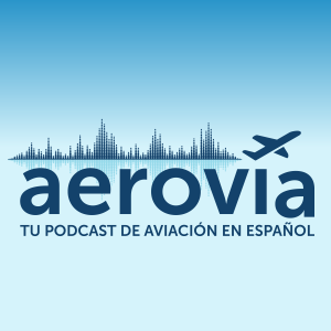 Logo de Aerovía, tu podcast de aviación en español.
